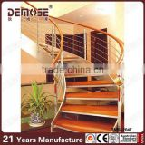 classical elegance indoor curved wood staircase