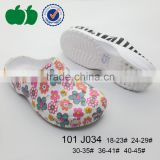 Popular new arrival injection lovely kids clogs slipper