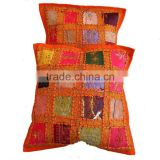 Exquisite Sari Beaded Throw Accent Indian Cushion Covers