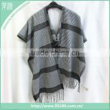 Black and Grey Scottish Tartan Cashmere Man Scarf