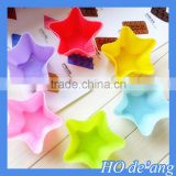HOGIFT 2015 newest design high quality creative cake molds, colorful 7CM Soap mold,five-pointed star jelly mold
