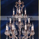 Fancy luxury rustic crystal american chandelier