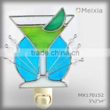 MX170152 stained glass decoration mini night light for night club