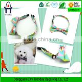 Canvas heat printing dog bow ties pet collars and leashes                                                                         Quality Choice