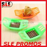 Custom Factory Promotional Kitchen Tools Plastic Vegetable Potato Slicer,High Quality Wholesale Easy Hand Grip French Fry Cutter