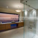 China factory price silk printed glass partition wall for kitchen