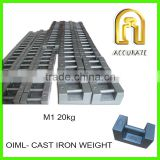 OIML M1 class test weight 1000kg 500kg 20kg cast iron weights, cast iron counter weight crane