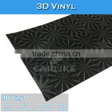 C9244 Black 3D Round Pattern PVC Material Car Wrapping Foil