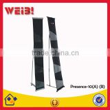 Retiary Cloth Aluminum Stand Newspapers And Magazines