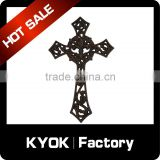 KYOK factory great quantity cast iron cross, classic color black hang cross home decarative, curtain rod accessories wholesale
