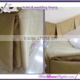 wholesale hotel bed skirt with side pleats, fitted bed skirt, striped bed skirts, light coffee