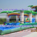 Inflatable water slide for adult and kids , inflatable hotselling tree water slide with pool SP-PS003