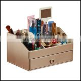 Creative multi function leather cosmetic bo, jewelry store, mirror, dressing table, cosmetic storage bo