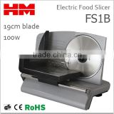 "Hot ! 7.5"" Inch Stianless Steel Blade Electric Food Slicers / Meat Slicers Kitchen Home Silver , Model FS1B"