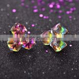 New Fashion Princess Cut AAA Austrian Cubic Zircon Earring Three Square Stud Earrings For Woman & Girls Bijoux Jewelry