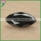 bulk black cubic zirconia marquise faceted gemstones wholesale
