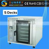 Commercial bakery equipment high efficiency 5 trays convection automatic hamburger flat bread making machine                                                                         Quality Choice