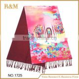 Latest trendy style long satin silk scarf with fast delivery