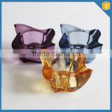 Wholesale beautiful coloured lead free Colored glass candle holder tea light candle holder