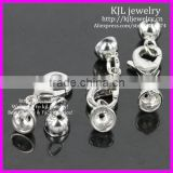 KJL-BD5323 Wholesale 6x13x18mm New lobster clasp with end cap sterling silver jewelry accessories