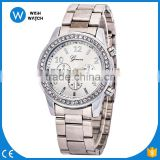 Hot Sale Silver Watches Women New Brand Geneva Wrist Watches Ladies Steel Strap Fashion Casual Watches AW013