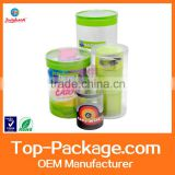 custom printing new clear plastic tube packaging
