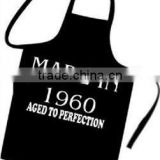 Black White Apron Kitchen Protective Clothing Cover cotton kitchen apron For Men And Women