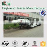Shengrun brand 13m 60t 3 axles low loader semi trailer for heavy equipment transportation for sale