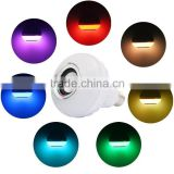 Led light RGB color smart bluetooth music hi-fi super bass speaker with remote control