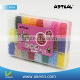 Eco-friendly non-toxic hama perler beads for kids RTKAL C-2.6MM mini fuse beads with ironing paper colors 28200 beads/box