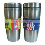3D soft pvc skin and hot sale steel mug