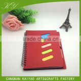 Advertising CMYK logo print combination sticky note memo pad with pen set