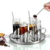 Glass and stainless steel coffee & tea mugs set
