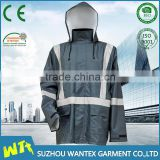 hot sale workwear working reflective safety jacket raincoat waterproof life jacket with refelctive strips