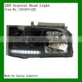 toyota headlights 000469-led hiace led head light crystal headlamp for hiace 2005 KDH 200 headlights