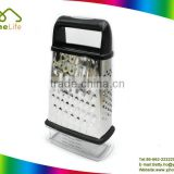 stainless steel 4 side cheese vegetable box multi purpose grater zester with container
