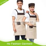 Hot Sale Cheap Wholesale Design cross back Cotton Kitchen Aprons / Cooking Apron