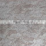 Ivory transparent fabric sample lace with flower for girl dress/garment/curtain