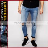 denim jeans china Distressed denim man jeans best jeans materials branded jeans surplus(LOTA022)