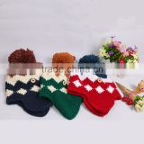 factory cheap free knit pattern for hat earflaps custom logo for girls and babies wholesale in stock