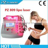 (Japan Mitsubishi Laser) 6-14 pads Fast Effective Diode Lipo Laser Slimming Machine With Ce /laser for belly fat