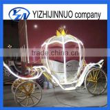 Cinderella carriage pumpkin horse drawn carriage with cover with LED lights