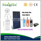 Singflo 6LPM 24 volt solar submersible water pump/solar powered 9300 submersible solar well pump