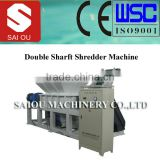wood and plastic double shaft shredder