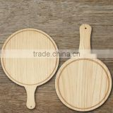 wooden pizza tray,round shape pizza plate
