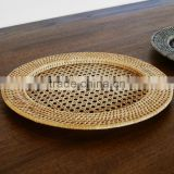 Rattan charger plates for restaurant, wedding