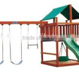 high quality wooden game house and swing for sale