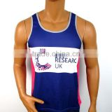 Digital sublimation printing 100 polyester tank tops for men