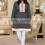Black & White Latest kurti designs for girls for stitching 2014