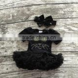 girls Halloween tutu romper infant toddler girls outfits girls cat balck tutu romper black chiffon tutu romper with headbannd
